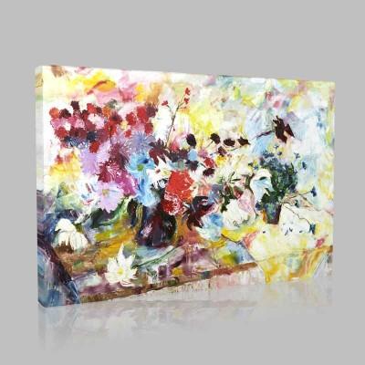 Abstract Sarı Çiçekler Kanvas Tablo