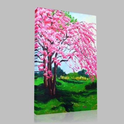 Büyük Sakura Ağacı Kanvas Tablo