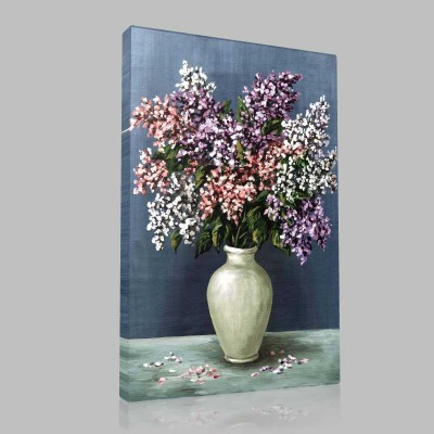 Beyaz Vazo Ve Çiçekler Kanvas Tablo