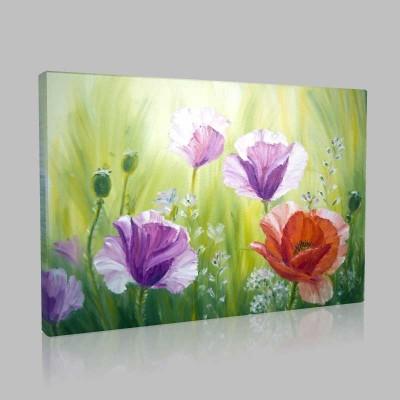 Kır Çiçekleri Kanvas Tablo
