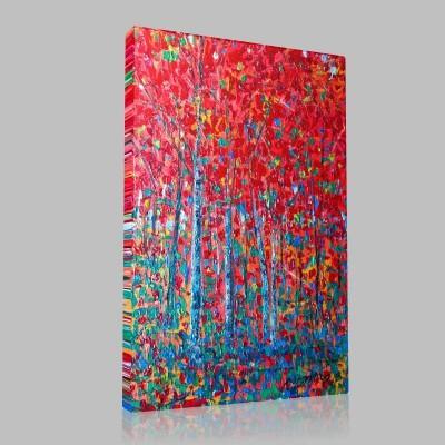 Kırmızı Orman Kanvas Tablo