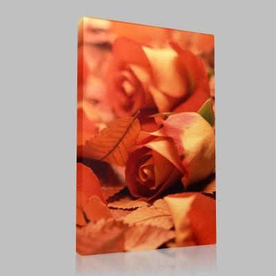 Leaf Rose Kanvas Tablo