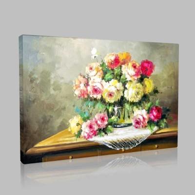 Masa Üstü Çiçekler Kanvas Tablo