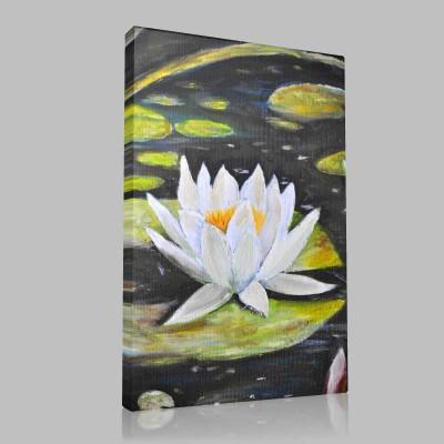 Pastel Lotus  Kanvas Tablo