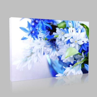 White Blue Jasmine 1 Kanvas Tablo