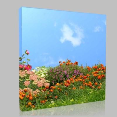 Çiçek Bahçesi Kanvas Tablo
