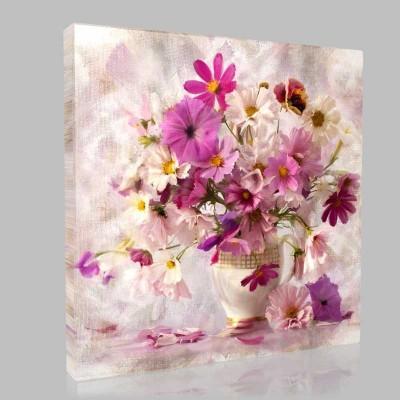 Çiçek Ve Ahenk Kanvas Tablo