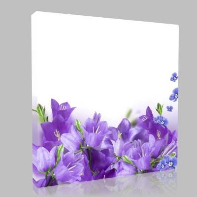 Mor Çiçeklerin Esintisi Kanvas Tablo