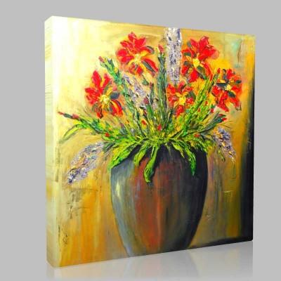 Vazoda Çiçek Çalışması Kanvas Tablo