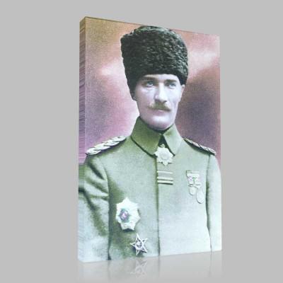Renkli Atatürk Resimleri 1 Kanvas Tablo