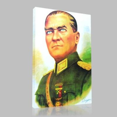 Renkli Atatürk Resimleri 10 Kanvas Tablo