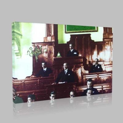 Renkli Atatürk Resimleri 100 Kanvas Tablo