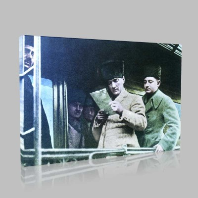 Renkli Atatürk Resimleri 101 Kanvas Tablo