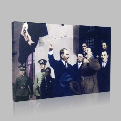 Renkli Atatürk Resimleri 102 Kanvas Tablo