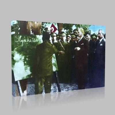 Renkli Atatürk Resimleri 104 Kanvas Tablo