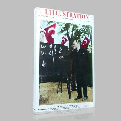 Renkli Atatürk Resimleri 106 Kanvas Tablo