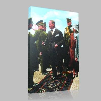 Renkli Atatürk Resimleri 108 Kanvas Tablo