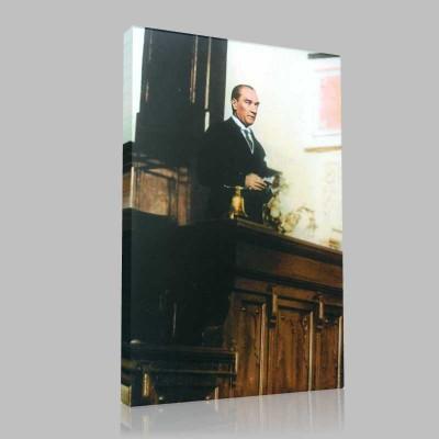 Renkli Atatürk Resimleri 109 Kanvas Tablo