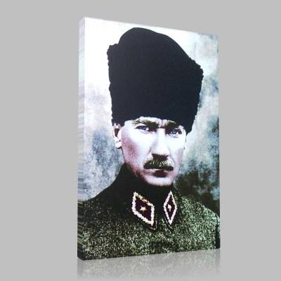 Renkli Atatürk Resimleri 11 Kanvas Tablo