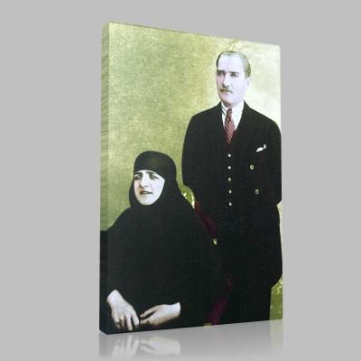 Renkli Atatürk Resimleri 110 Kanvas Tablo