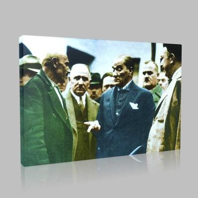 Renkli Atatürk Resimleri 111 Kanvas Tablo