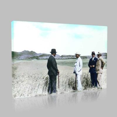 Renkli Atatürk Resimleri 115 Kanvas Tablo