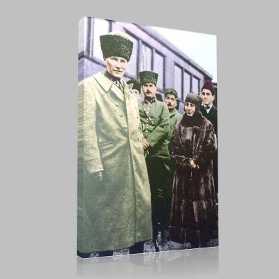 Renkli Atatürk Resimleri 116 Kanvas Tablo