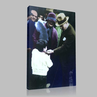 Renkli Atatürk Resimleri 117 Kanvas Tablo