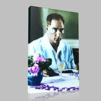 Renkli Atatürk Resimleri 118 Kanvas Tablo