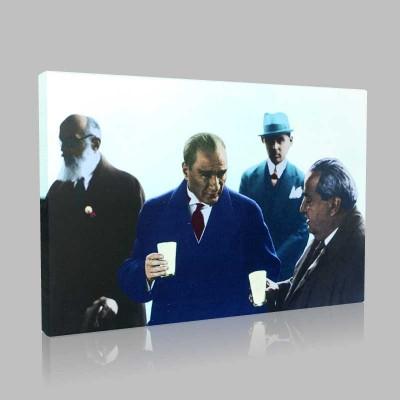 Renkli Atatürk Resimleri 119 Kanvas Tablo