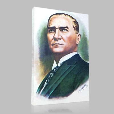 Renkli Atatürk Resimleri 12 Kanvas Tablo