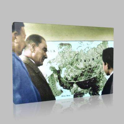 Renkli Atatürk Resimleri 121 Kanvas Tablo
