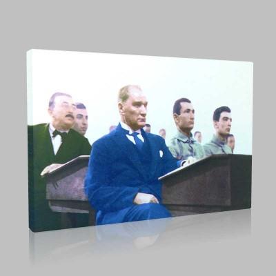 Renkli Atatürk Resimleri 122 Kanvas Tablo