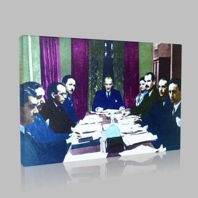 Renkli Atatürk Resimleri 125 Kanvas Tablo