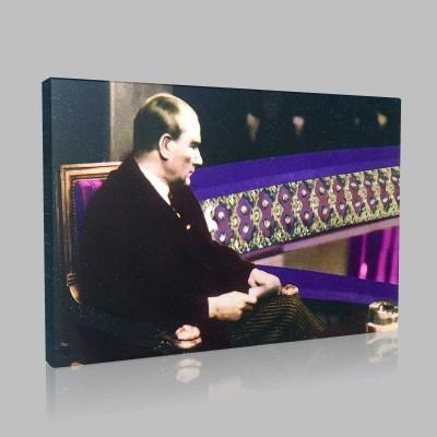Renkli Atatürk Resimleri 126 Kanvas Tablo