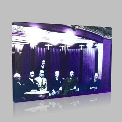 Renkli Atatürk Resimleri 127 Kanvas Tablo