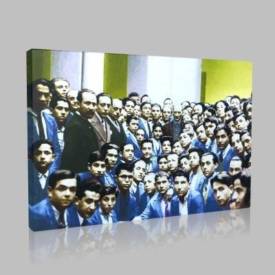 Renkli Atatürk Resimleri 129 Kanvas Tablo