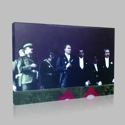 Renkli Atatürk Resimleri 130 Kanvas Tablo
