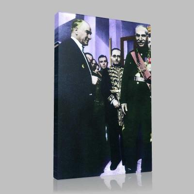 Renkli Atatürk Resimleri 131 Kanvas Tablo