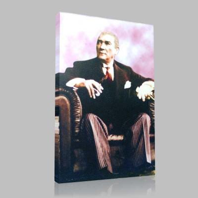Renkli Atatürk Resimleri 132 Kanvas Tablo