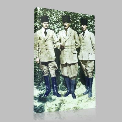 Renkli Atatürk Resimleri 133 Kanvas Tablo
