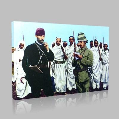 Renkli Atatürk Resimleri 135 Kanvas Tablo