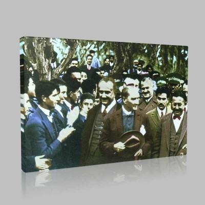 Renkli Atatürk Resimleri 136 Kanvas Tablo