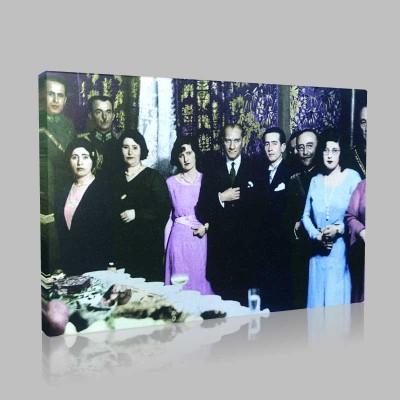 Renkli Atatürk Resimleri 139 Kanvas Tablo