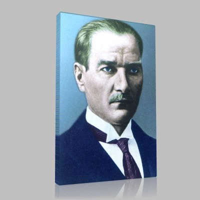 Renkli Atatürk Resimleri 14 Kanvas Tablo