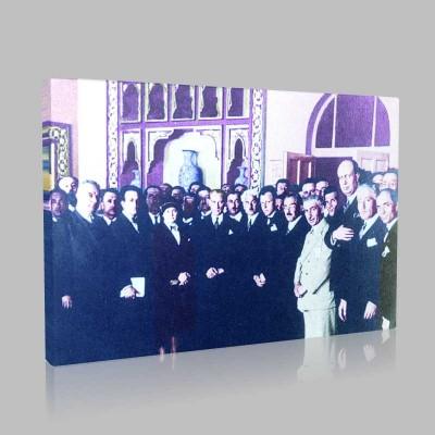 Renkli Atatürk Resimleri 140 Kanvas Tablo