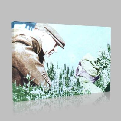 Renkli Atatürk Resimleri 143 Kanvas Tablo