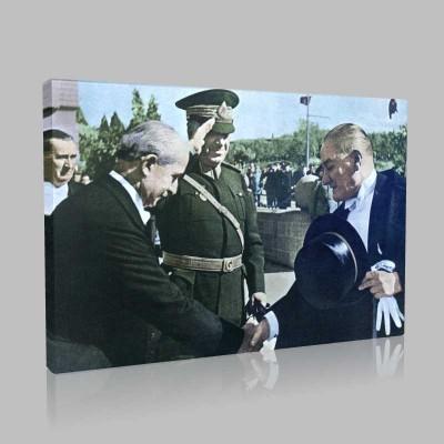 Renkli Atatürk Resimleri 144 Kanvas Tablo