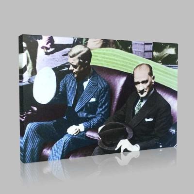 Renkli Atatürk Resimleri 145 Kanvas Tablo