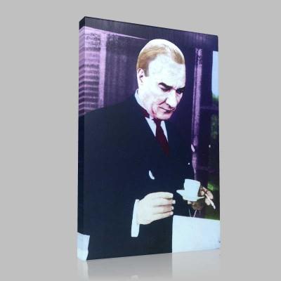 Renkli Atatürk Resimleri 146 Kanvas Tablo